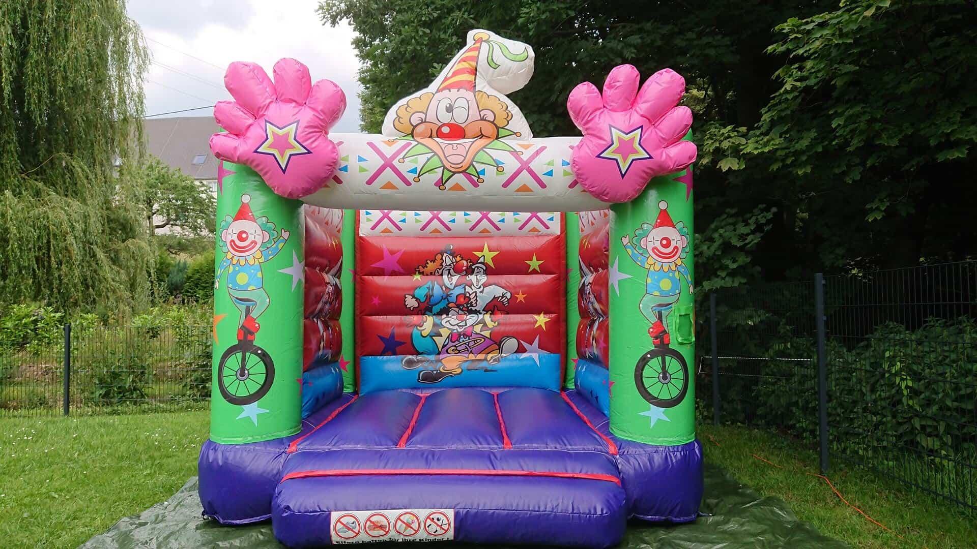 Kinder-Hüpfburg Clown mieten